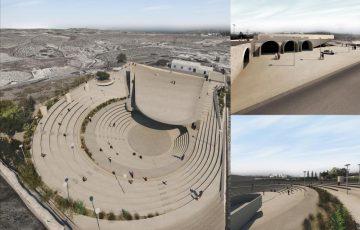 Ο σχεδιασμός για τη μετατροπή της δεξαμενής του Μεγαλοχωρίου σε υπαίθριο θέατρο και χώρο πολιτισμού.