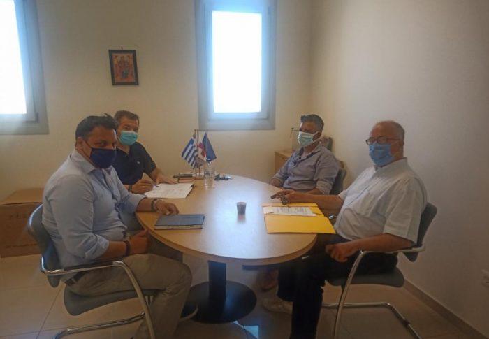 Συναντήσεις της Θηραϊκής Πολιτείας για τα θέματα του Γενικού Νοσοκομείου Θήρας.